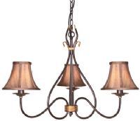 Windermere 3 Light Fitting in a Rust/Gold Patina - ELSTEAD WM3